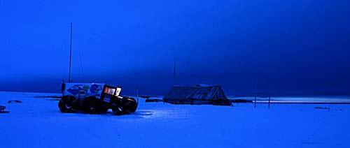 На привале - вечерняя Арктика