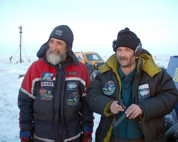 Владимир Чуков и Юрий Заруба в экспедиции «Полярное кольцо»