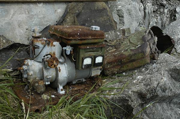В таком виде сохранился бензоагрегат АБ-1