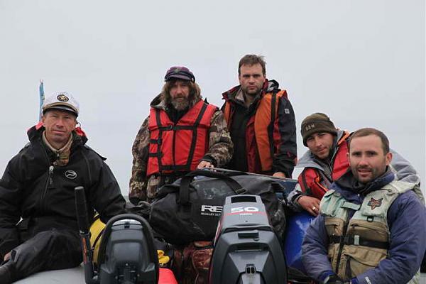 Команда экспедиции к острову Ионы-2010