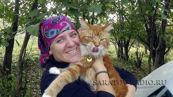 Светлана Суханцова и кот Камелот