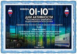 """Результаты дней активности """"01-10"""" 2016"""