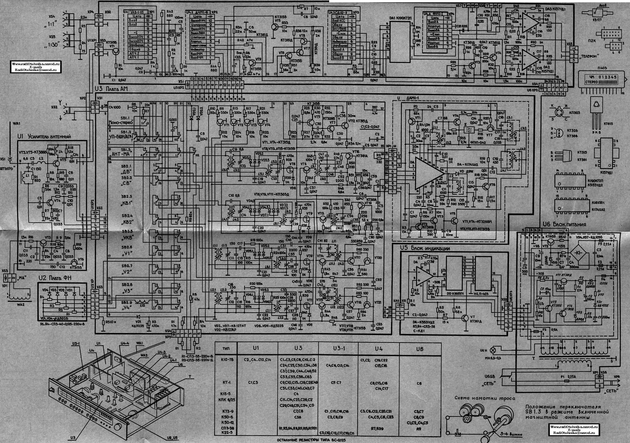 радиотехника тюнер т 101 стерео схема
