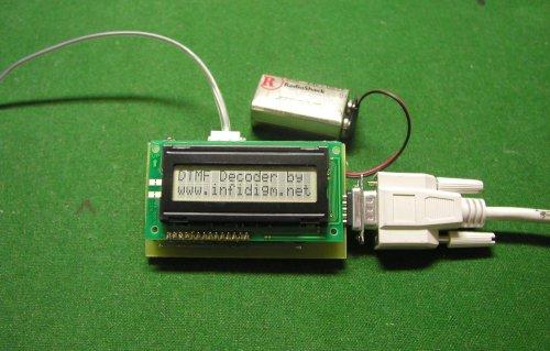 ДТМФ декодер удобный инструмент для анализа сигналов генерируемых телефоном.  Декодированные цифры отображаются на...