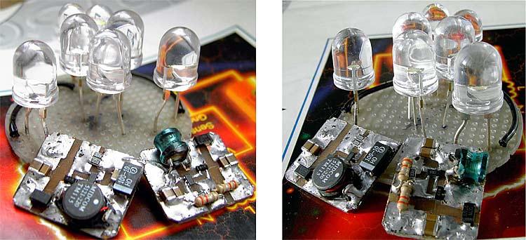 Схема импульсного стабилизатора тока для питания мощных светодиодов.