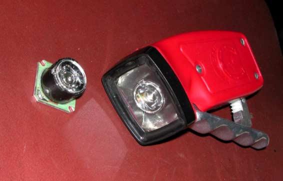 Фотография диодного модуля и переделанного фонарика.