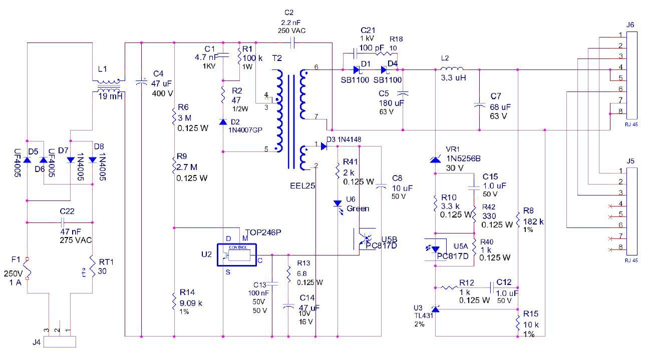 Схема сетевого адаптер