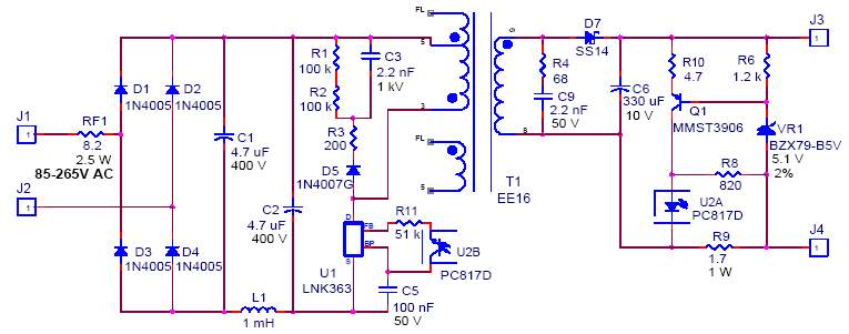 Scheme charger RCD chain