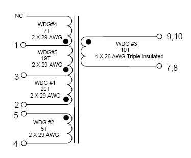 электрическая схема трансформатора тока