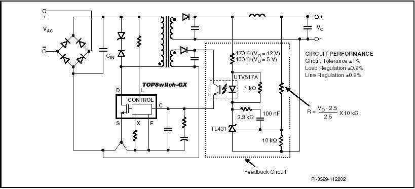 4) Цепь с оптопарой/TL431.