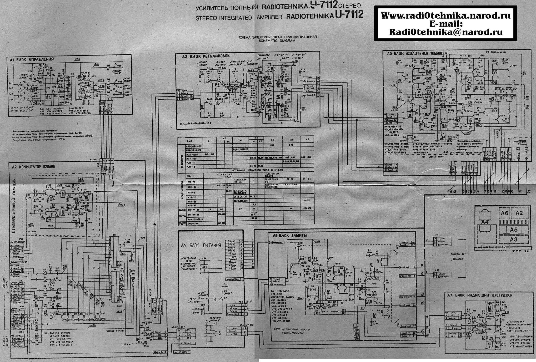 Радиотехника у-101-стерео схема электрическая