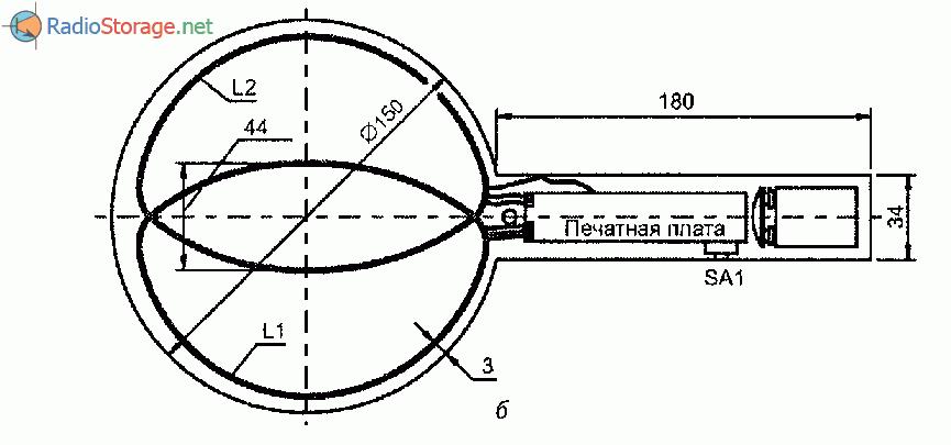 Металлоискатель на сравнении частот своими руками