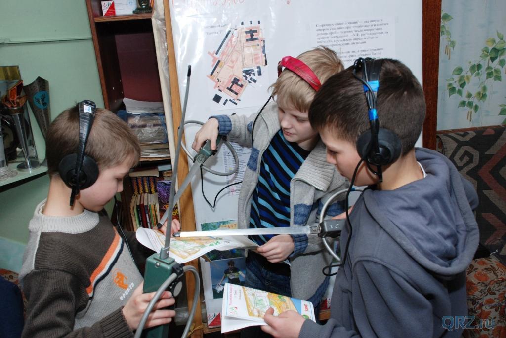Дети с радиопеленгаторами