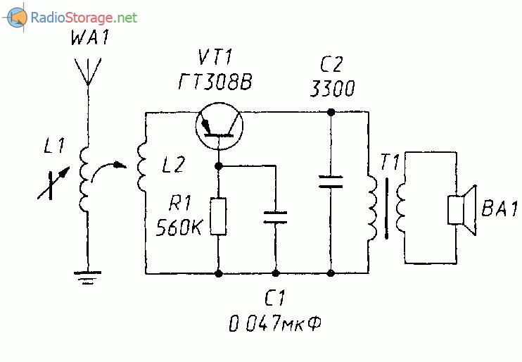 Простой УКВ ЧМ радиопередатчик на одном транзисторе (П416 ...