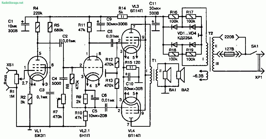 Схема ламповый усилитель своими руками