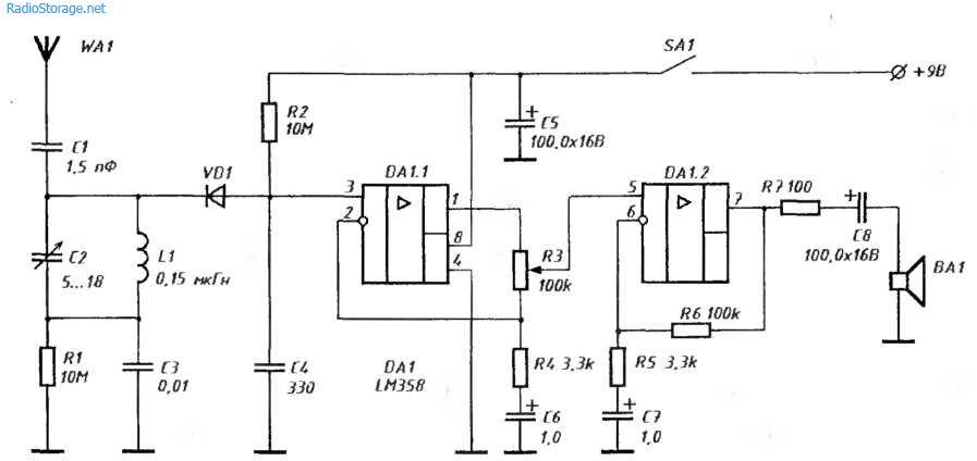 lm358p схема включения как работает
