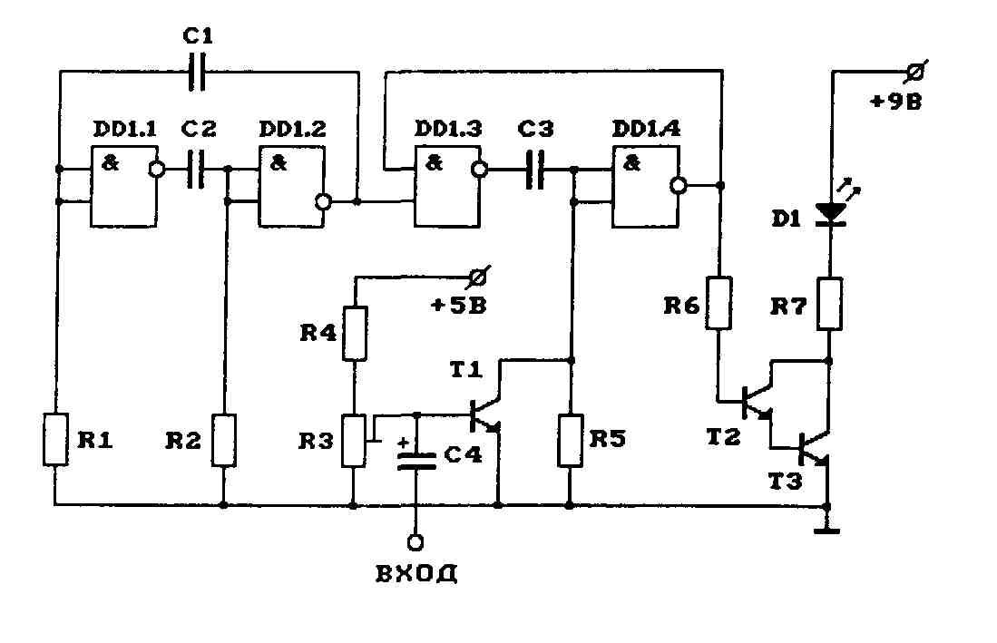 Схема передатчика с