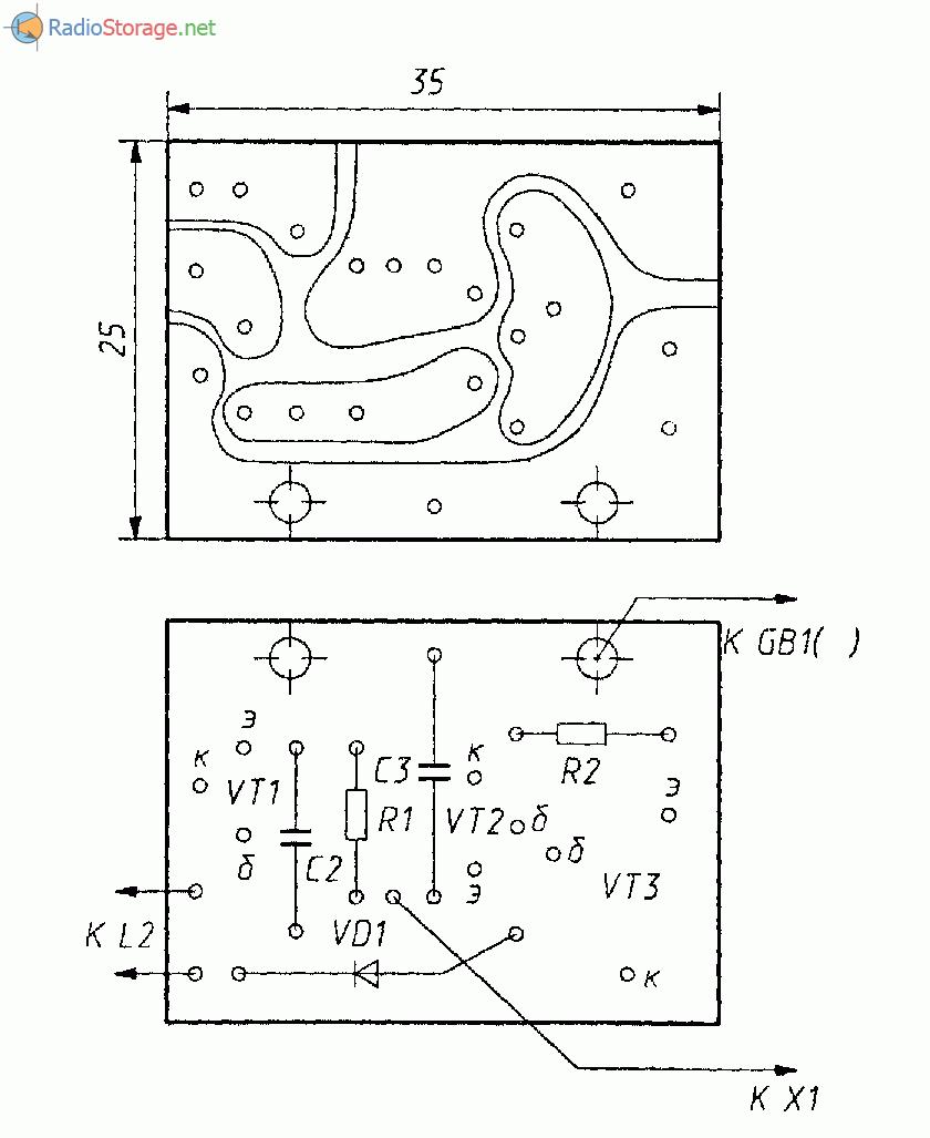 схема простейшего укв приемника