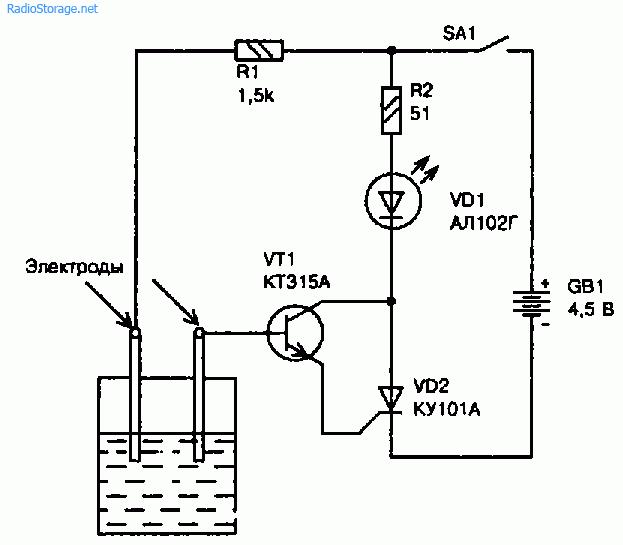 Контроль уровня воды в баке своими руками чертежи