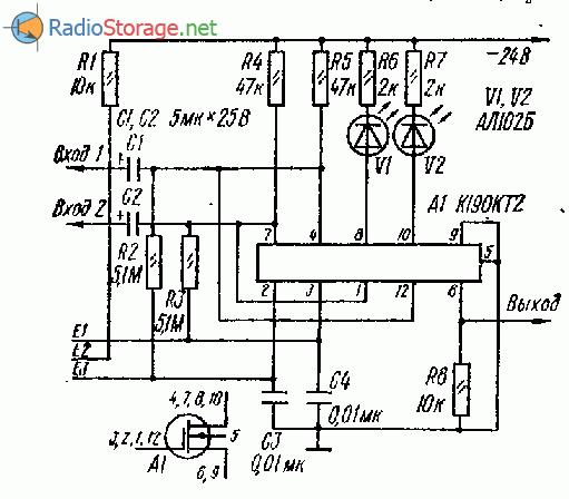 схемы коммутаторов входного сигнала