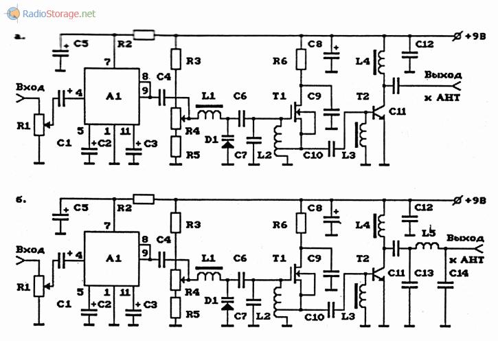 укв схемы схема передатчиков чм