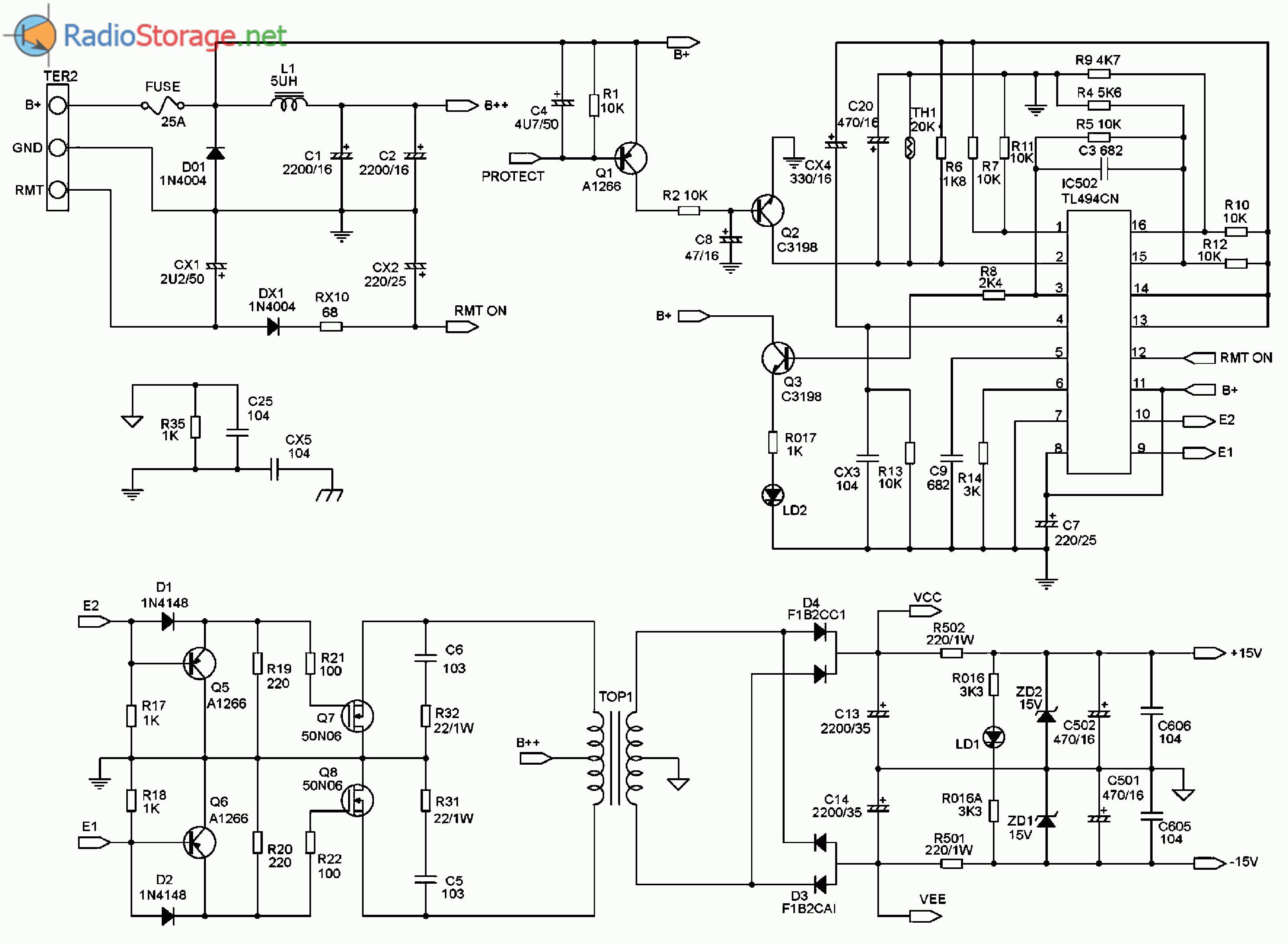 схема усилителя на кт80бм для города Если