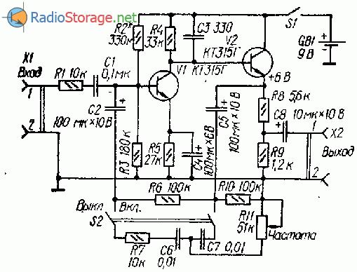 Схема дисторшн на транзисторах